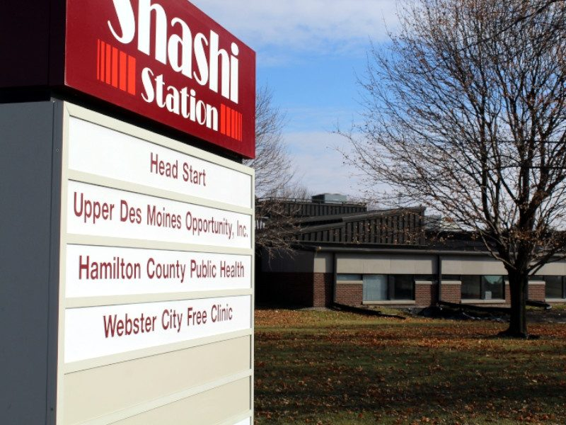 Shashi Station sign and building