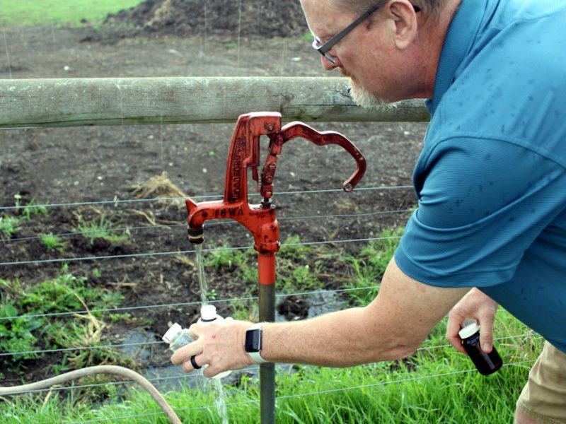 County sanitarian testing well water